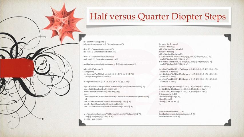 Half Versus Quarter Presentation for ACOS 2012 by Dr. James S. Lewis